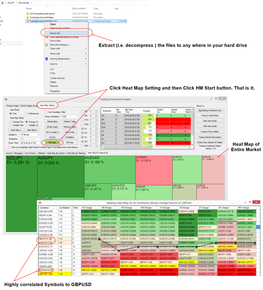Free Correlation Ranking Heat Map How to Use_e