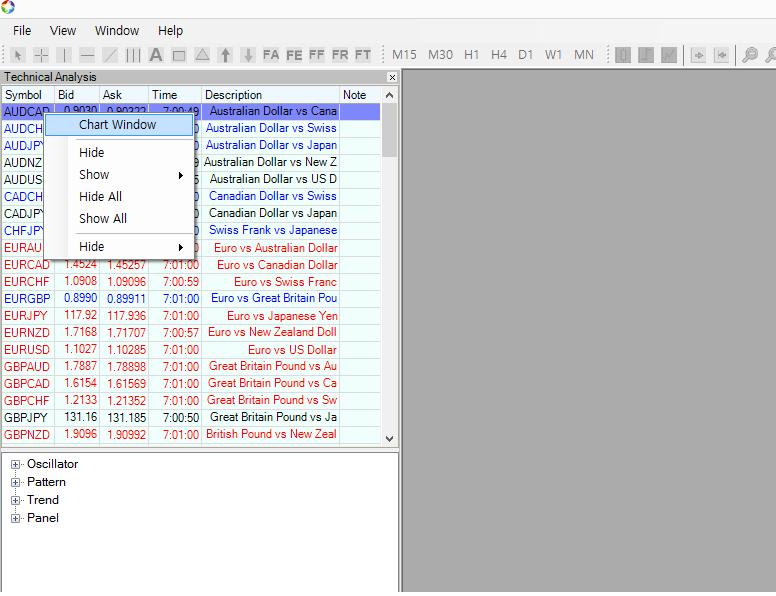 Optimum Chart Pairs Trading 1